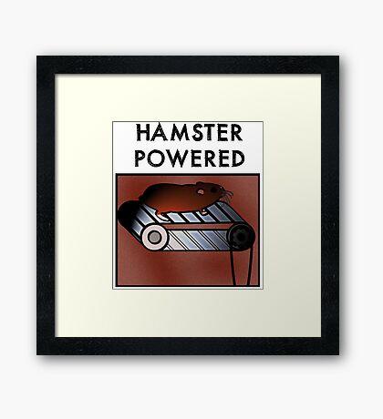 Hamster powered Framed Print