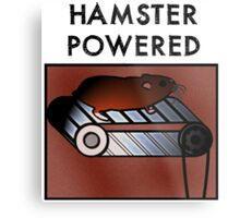 Hamster powered Metal Print
