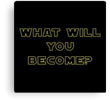Rogue One- What Will You Become? Outline Canvas Print