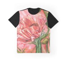 Big Peach Poppy Graphic T-Shirt