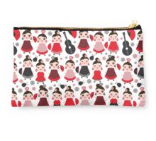 Flamenco girls with fans and guitars Studio Pouch