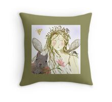 The Queen of Twigs Submits to Spring Throw Pillow