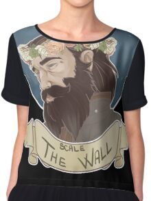 Scale The Wall Chiffon Top