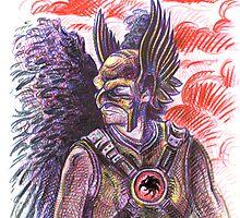 Hawk Man by Lincke