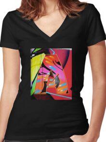 Urban Alphabet A Women's Fitted V-Neck T-Shirt