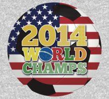 2014 World Champs Ball - USA One Piece - Long Sleeve