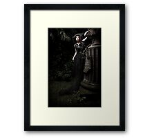 black.tears V Framed Print