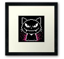 Vampire Cat Pixel Framed Print