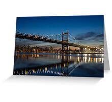 Triborough Bridge Lights Greeting Card