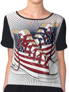 American Teen Patriotic Shoes  Chiffon Top
