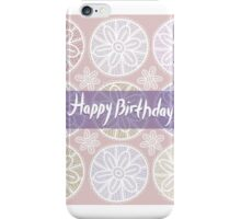 Happy Birthday Card Vintage lace  iPhone Case/Skin
