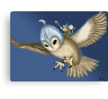Knight Owl & Sir Mouse Canvas Print