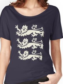 3 lions white Women's Relaxed Fit T-Shirt