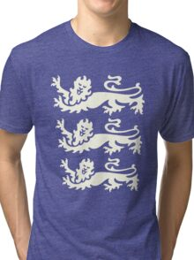 3 lions white Tri-blend T-Shirt