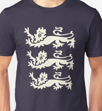 3 lions white Unisex T-Shirt
