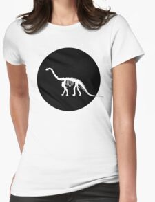 Brontosaurus skeleton Womens Fitted T-Shirt