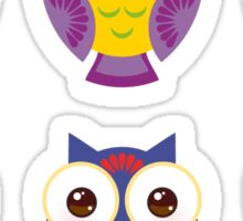 Colourful owls Sticker