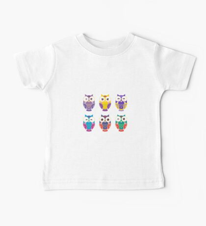 Colourful owls Baby Tee