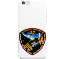 International Space Stataion (ISS) Mission 27 iPhone Case/Skin