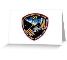 International Space Stataion (ISS) Mission 27 Greeting Card