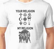 my religion your religion dbz Unisex T-Shirt