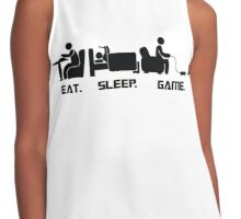 Eat.Sleep.Game. T-Shirt Contrast Tank