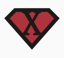 X letter in Superman style by Stock Image Folio