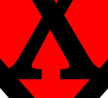 X letter in Superman style Sticker