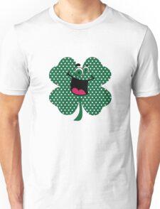 Retro Dots Cartoon Comic Shamrock T-Shirt Unisex T-Shirt