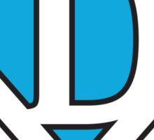 D letter in Superman style Sticker