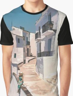 Frigiliana, white village in Andalusia. Graphic T-Shirt