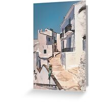 Frigiliana, white village in Andalusia. Greeting Card