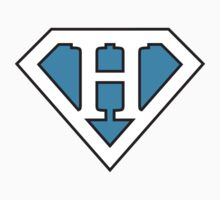 H letter in Superman style Kids Clothes