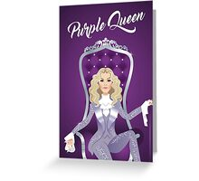 Purple Queen Greeting Card
