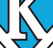 K letter in Superman style Sticker