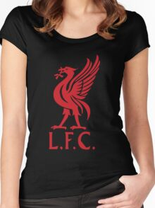 logo liverpol Women's Fitted Scoop T-Shirt