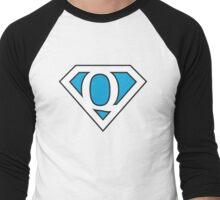 Q letter in Superman style Men's Baseball ¾ T-Shirt