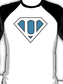 U letter in Superman style T-Shirt
