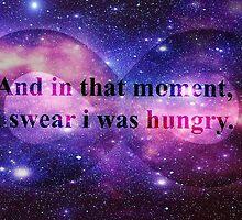 i swear i was hungry  by AliLovesCats