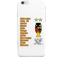 West Germany Euro 1980 Winners iPhone Case/Skin