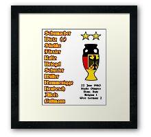 West Germany Euro 1980 Winners Framed Print