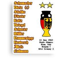 West Germany Euro 1980 Winners Canvas Print