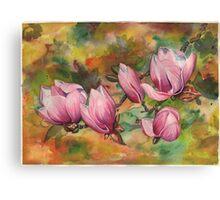 Magnolia Blossoms (in Watercolor) Canvas Print