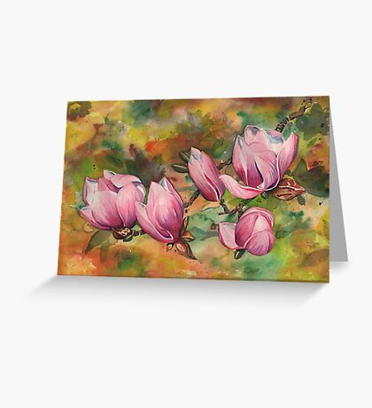 Magnolia Blossoms (in Watercolor) Greeting Card
