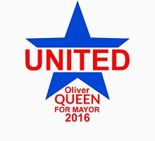 United - Oliver Queen For Mayor 2016 - Blue Star & Red Text Unisex T-Shirt