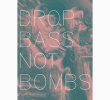 Drop Bass Not Bombs (Vintage) Womens Fitted T-Shirt