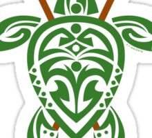 Green Tribal Turtle 2 Stand-Up / Maui Sticker