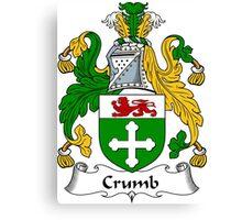 Crumb Coat of Arms / Crumb Family Crest Canvas Print