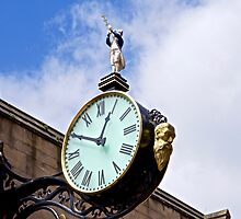 Clock on Coney Street, York by John (Mike)  Dobson