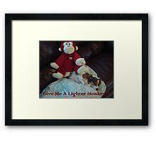 Lighter Monkey Framed Print
